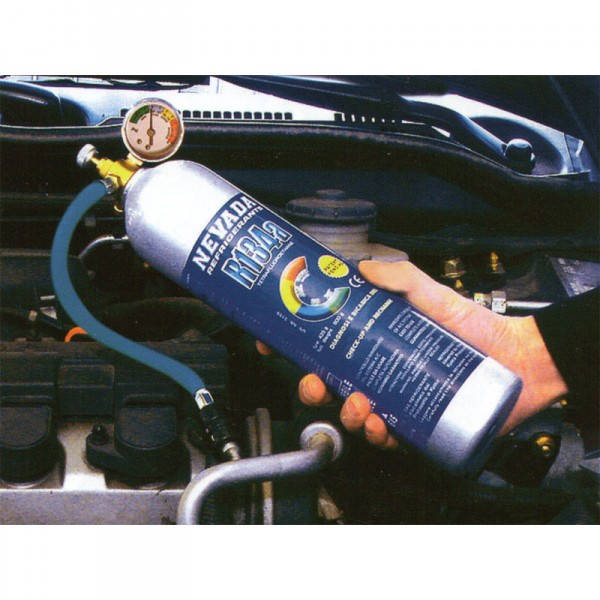 R134a R134 Refrigerant Gas Do It Yourself Recharge Kit 1 Kg